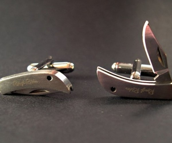 Knife Cufflinks Will Make You Look Sharp