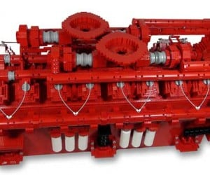 Cummins Creates LEGO Replica of Giant Diesel Engine