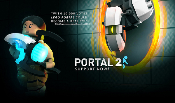 lego portal set vote for it for science. Black Bedroom Furniture Sets. Home Design Ideas