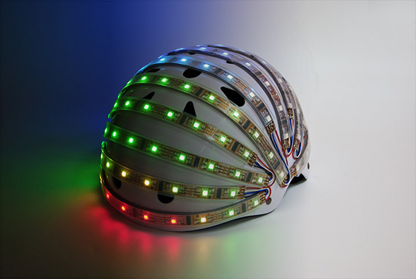 lumahelm smart led helmet bicycle cyclist