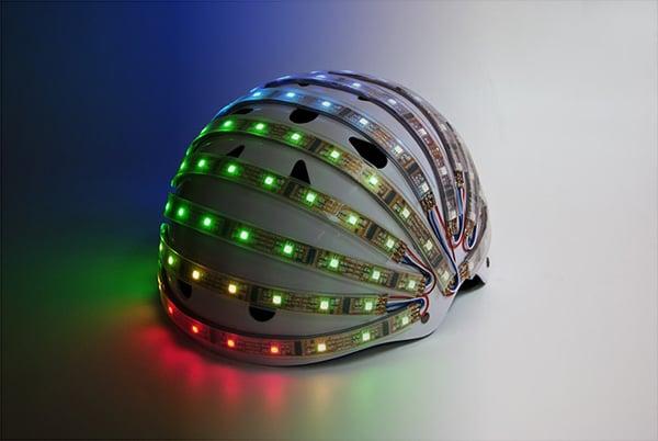 lumahelm smart led helmet bicycle cyclist