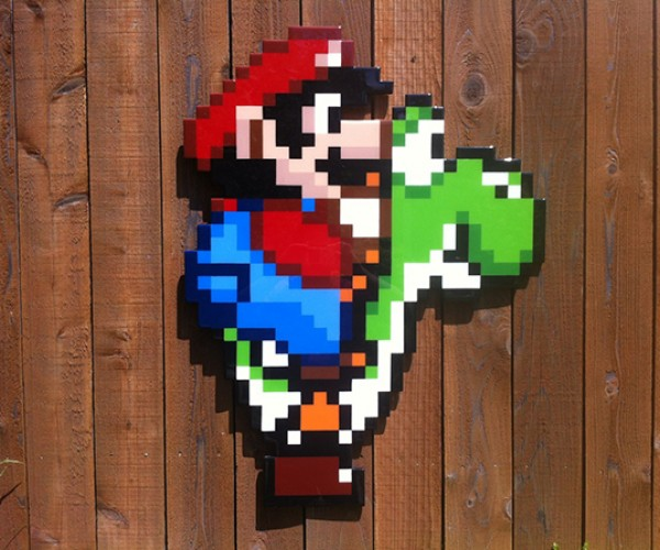 mario on yoshi by jacob ashley 2