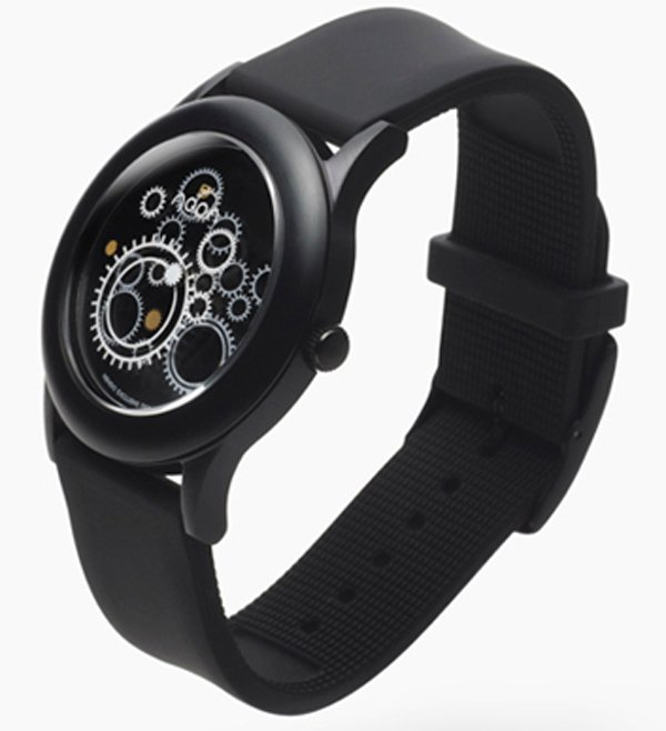 nendo dark noon watch chronograph