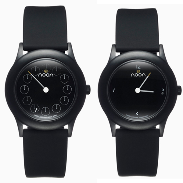 nendo dark noon watch front