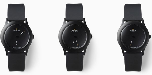 nendo dark noon watch hand