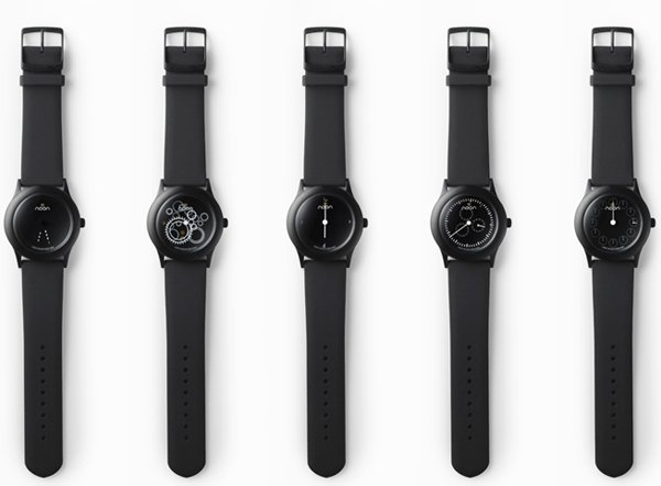 nendo dark noon watch timepiece japan design