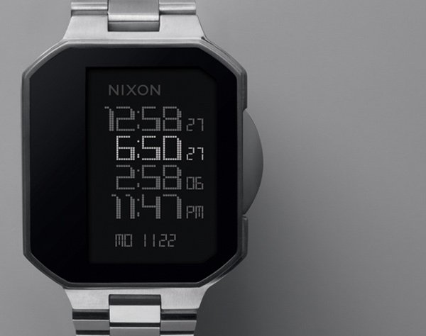 nixon the synapse watch digital front