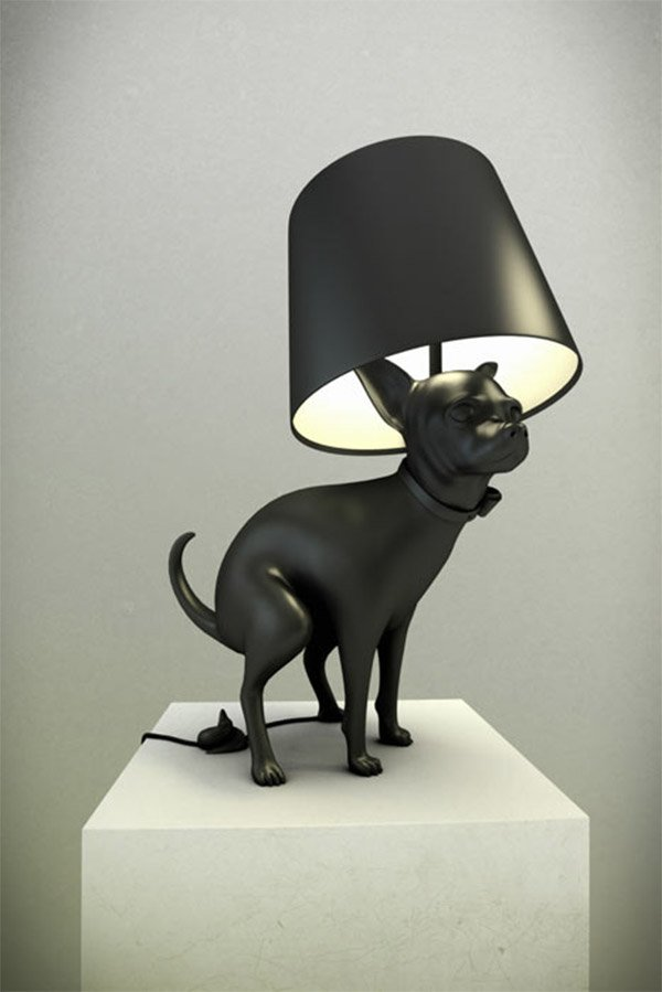 pooping dog lamp 2