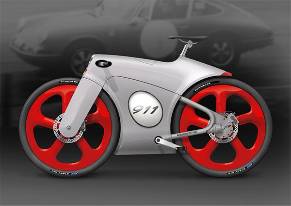 porsche 911 bicycle concept bastiaan kok