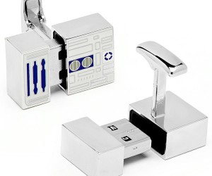 R2-D2 USB Cufflinks Maintain Your Cuffs (and Data) Like a Maintenance Droid Should