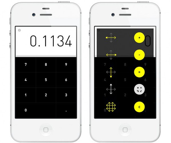Rechner Calculator iPhone App: Gestural Arithmetic