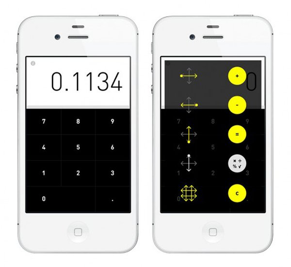 rechner calculator iphone app gestures