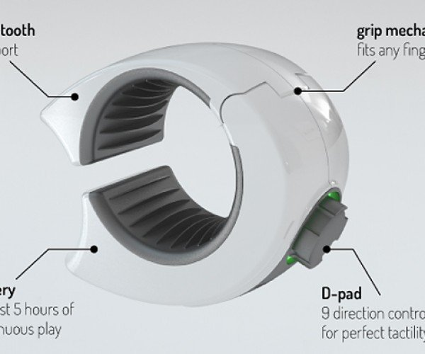 Ringbow Wearable D-Pad Now on Kickstarter: One Ring to Rule All Mobile Devices