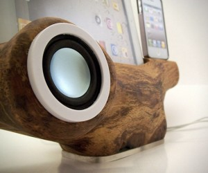 RockAppleWood Sustainable iOS Device Dock Certainly Won't Catch Fire