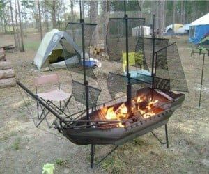 Sailing Ship Fire Pit: Yo Ho Ho and a Bottle of Barbecue Sauce