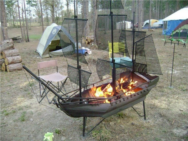 sailing ship fire pit