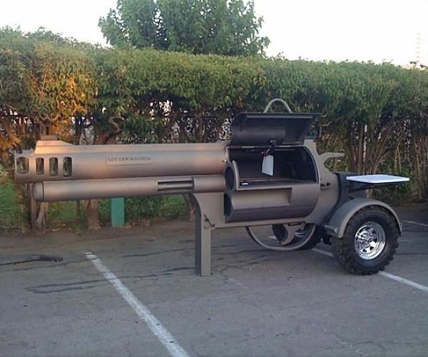 Smoking Gun BBQ Grill: Ready, Aim, Fire it Up!