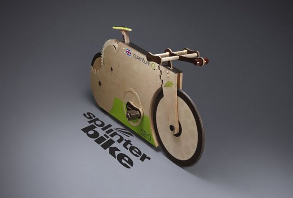 splinterbike quantum wooden bike speed record
