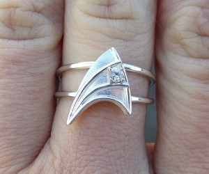 Star Trek Engagement Ring for Entering the Final Frontier