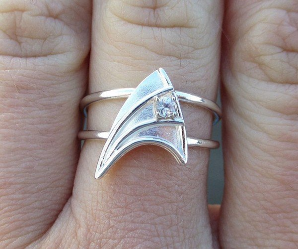 Star Trek Engagement Ring for Entering the Final Frontier