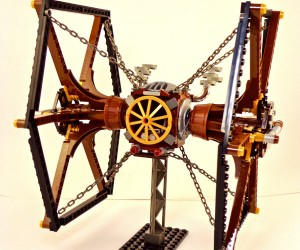 Steampunk LEGO X-Wing and TIE Fighters: A Long Time Ago… in the 1890s