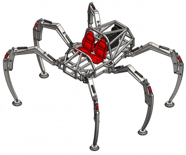 Students Creating a Rideable Hexapod, Probably Won't Be Street Legal