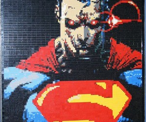 Lego Superman Mosaic Turns The Man of Steel into The Man of Bricks
