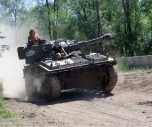 Theme Park Lets You Drive Your Own Tank!