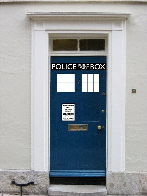 tardis vinyl door decals it 39 s messier on the inside
