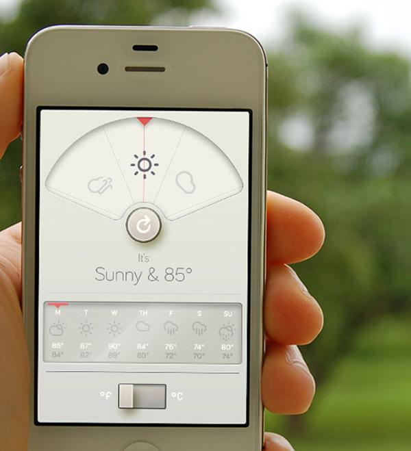 Wthr app for ios the forecast calls for a beautiful ui for Application iphone temperature interieur