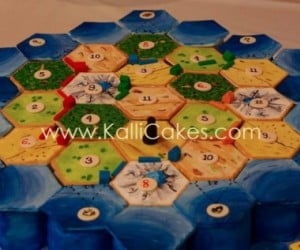 Settlers of Catan Cake Helps Me Win Every Time