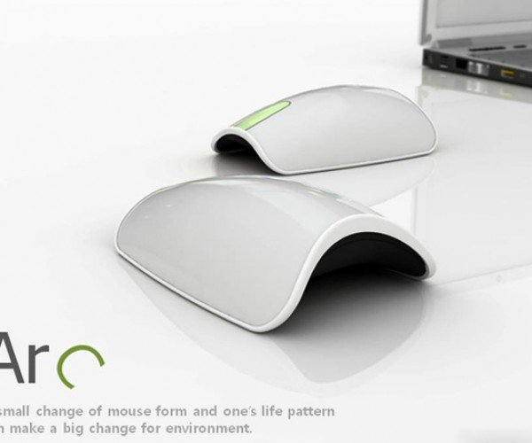 Arc Mouse Lets You Aim Away on Curved Surfaces