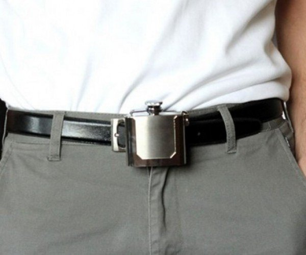 Belt Buckle Flask Lets You Take Your Booze to Go
