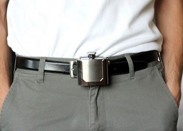 Belt Buckle Booze Flask