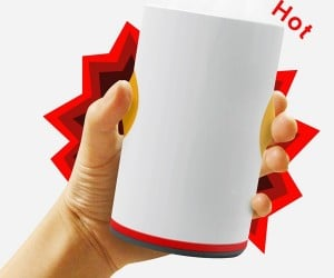 Burning Cup Heats up Your Drinks in a Jiffy