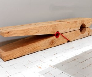 Giant Clothespin Bench: Care to Hang Around?