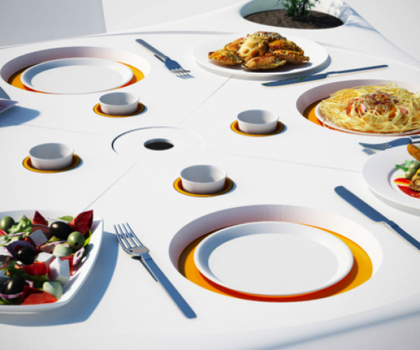 Bye Bye Wind Table Keeps Your Dinner on the Table and off the Floor