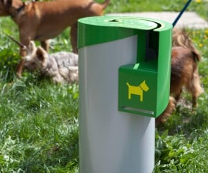 Only Pet Poop Can Be Disposed in the Curve Trash Bin