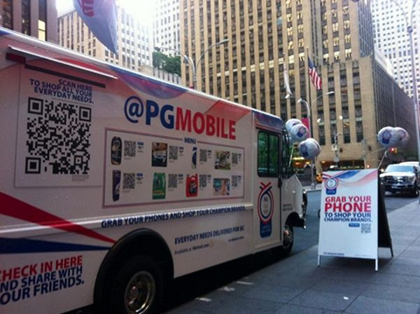 Procter & Gamble Mobile Truck
