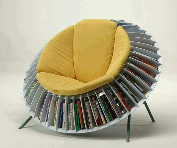 Sunflower Chair Lets You Sow the Seeds of Knowledge While You Sit