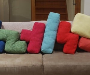 Tetris Cushions Let You Play the Game on Your Couch