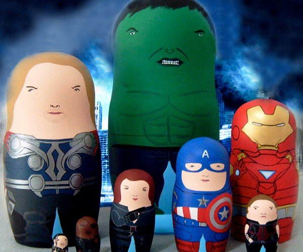 Avengers Matryoshka Dolls: Stack and Assemble!