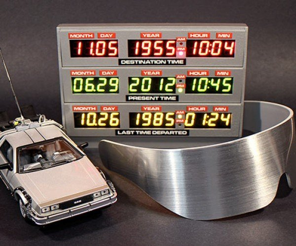 DIY Back to the Future Time Clock is Pretty Heavy