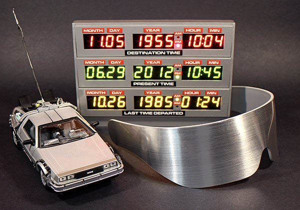back to the future time circuit clock by adafruit industries