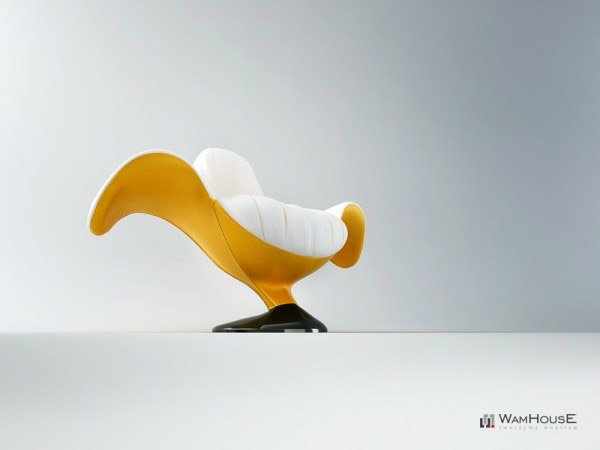 Banana Chair Seating With A Peel