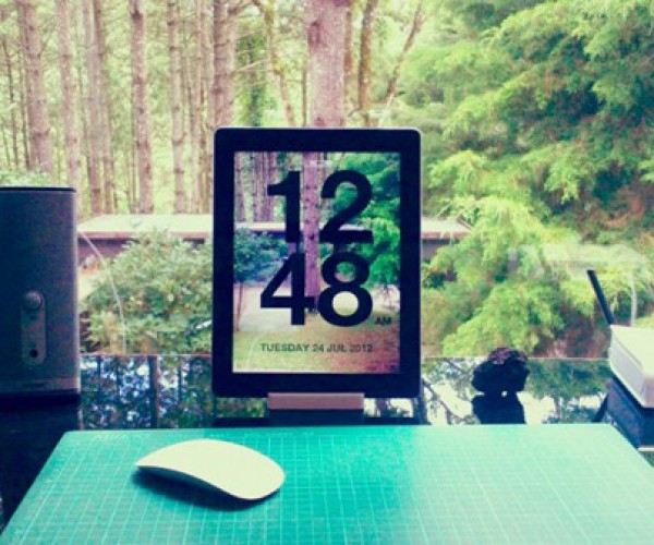 Chameleon Clock App For iOS: Now You Can See Through Your Tablet!