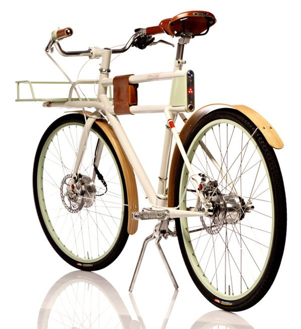 faraday porteur electric bicycle back
