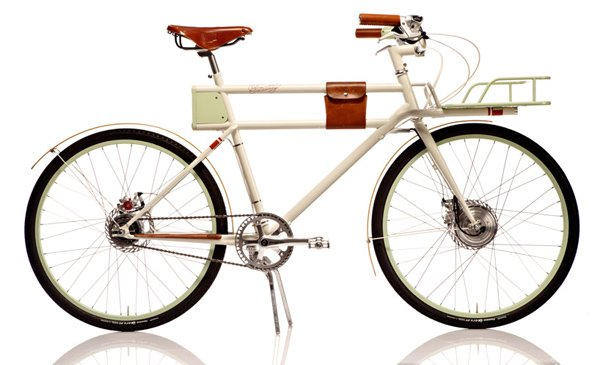 faraday porteur electric bicycle side