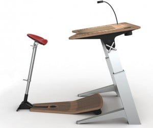 Focal Locus Desk & Chair Set Won't Allow You to Sit or Stand, But I Still Want One