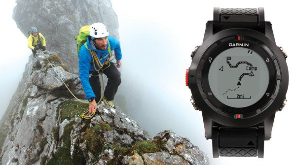 garmin gps fenix watch in action